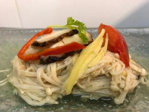 Steamed Sour Plum Enoki Mushroom