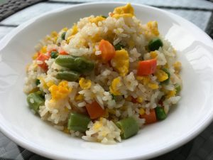 Fried Rice with Egg & Mixed Vegetables