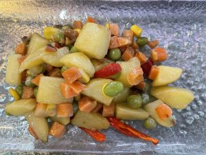 Stired Fried Potato with Mixed Beans